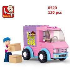 Sluban MINI Blocks DIY Kids Building Educational Toy Puzzle PINK Car 0520 toys