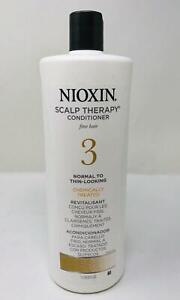 Nioxin System 3 Scalp Therapy Conditioner For Fine Hair, Chemically Treated 33.8