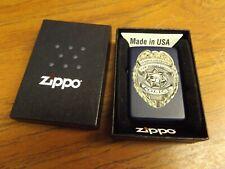 Zippo Lighter: Police Badge Navy Blue 03220 - NICE!