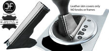 BLACK & WHITE REAL LEATHER AUTO AUTOMATIC BOOT SET FOR AUDI TT MK2 2006-2014