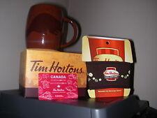 Tim Hortons 2016 Limited Edition Holiday Coffee Mug Beaver / Sleeve & Gift Card