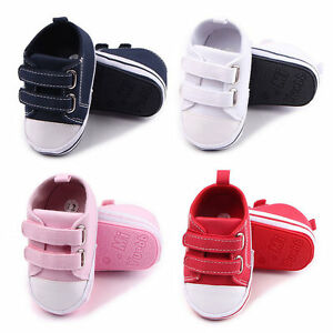 Baby Canvas Shoes Hard Sole Infant Boys Girls Sport Shoes Antislip First Walkers