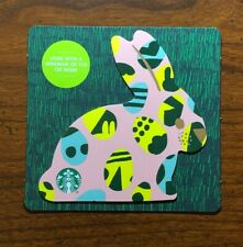 STARBUCKS Gift Card 2019 Die Cut Bunny Rabbit Pink Happy Easter Egg No $ Value