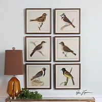 "SIX 15"" SPRING SOLDIERS BIRDS WALL ART PICTURES FRAME PRINTS RAISED UTTERMOST"
