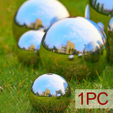 4 Sizes Mirror Garden Home Sphere Ornament Stainless Steel Gazing Hollow Balls