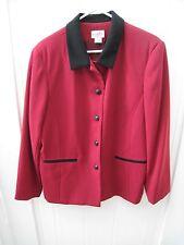 Koret Button Up Jacket Blazor Red Pockets Long Sleeve