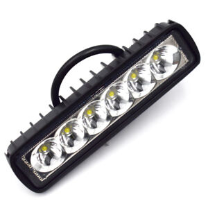 18W OffRoad Driving Fog Work 6 LED Bar Light Spot Lamp Fit Truck Jeep 4x4 Bright