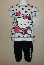 Hello Kitty by Sanrio Infant Girls Two (2) Piece Polka Dot Pant Set 12M NWT