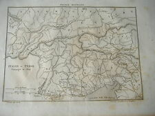 1836 BEAUTIFUL MAP OF ITALY ITALIA AND TIROLO TYROL DURING WAR OF 1805 NAPOLEON