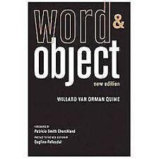 Word and Object (MIT Press) by Quine, Willard Van Orman