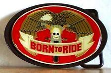 Gürtelschnalle Born to Ride Eagle Wings Motorrad Adler Belt Buckle Metall