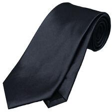 MENS DARK SILVER GREY 8.5CM TIE necktie wedding plain formal