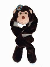e6bbd093276 Kids Childrens Animal Fur Head Trapper Hat Hood Scarf Snood Gloves Monkey  Ape