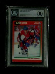 Denis Savard 1991-92 Score Auto BGS BAS Beckett Authentic! NHL LEGEND! Canadiens
