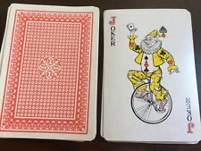 "VINTAGE Jumbo PLAYING CARDS 7"" Joker Design - Complete Set"