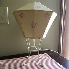 Pottery Barn Kids ~ Shabby Chic Yellow Floral Lamp ~ Beautiful! ~ Rare!