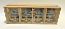 Royal Copenhagen Brandy Snifters Set Of 4 In Original Crate Box Sailboat Etched