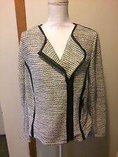 LANE BRYANT 16 New Tweed Moto Style Jacket With Faux Leather Trim