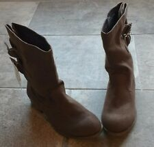 NEW Sz 5 1/2 Cherokee Brown Boots Shoes