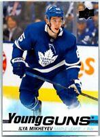 2019-20 Upper Deck Hockey Young Guns Rookie Card #210 Ilya Mikheyve Maple Leafs