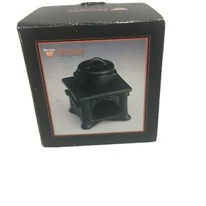 Green Potpourri Burner: Wood Stove With Pot On Top Aromatic Fragrance