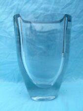 """HEAVY (3.4Klo) THICK SCANDINAVIAN ART GLASS VASE EXCELLENT CONDITION 9"""" TALL"""