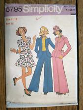 Vintage 1970s Sewing Pattern Simplicity 5795 Skirt Pants Suit Teen 11/12 Uncut