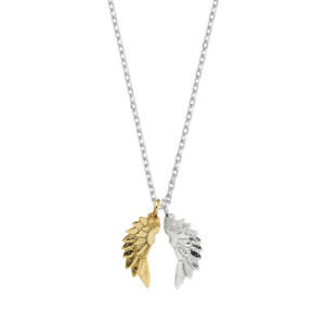 Estella Bartlett Designer Necklace Angels Wings, Gold/Silver Plated