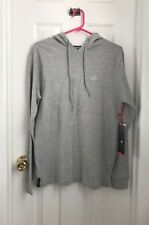 Enyce Heather Gray Jersey Knit Long Sleeve Hooded Shirt Pull-Over Hoodie Sz M