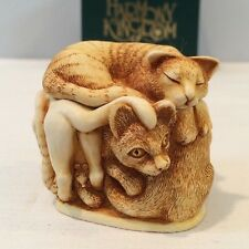 "Nib 1994 Harmony Kingdom Cat Box ""Purrfect Friends "" Item No. Tjca Retired Nos"