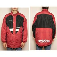 Vintage 90s Adidas Jacket Insulated Red Black size M