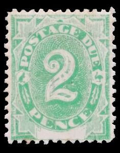 SGD3 - 1902 Emerald-green 2 Pence Postage Due Mint Stamp - CV $130 - 645a