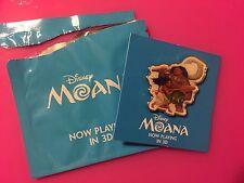 Amc Theaters Moana Moana and Maui Disney Pin Stubs Premiere Exclusive