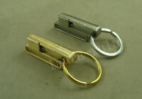 Hand made Steel & Brass Detachable Quick Release Key Chain Belt Clip Ring Holder