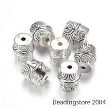 10pcs Tibetan Carved Column Acrylic Beads CCB Style Unique Loose Spacers 18.5mm