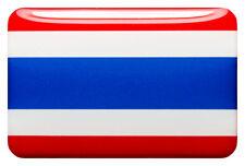 3D Kfz-Aufkleber (gedomt) Flagge Thailand (R15)