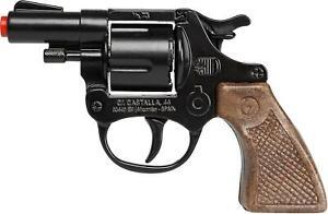NEW Gonher 357 Colt Detective Style 8-Shot Toy Cap Gun - Black