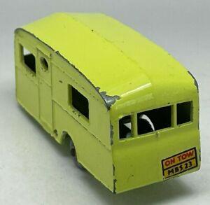 Matchbox Lesney No 23a Lime Green Berkeley Cavalier Caravan - Plastic Wheels