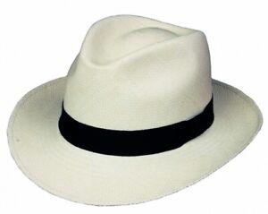 Panama Hut Classic Original Scippis Panama Strohhut weiß Gr L 59 cm