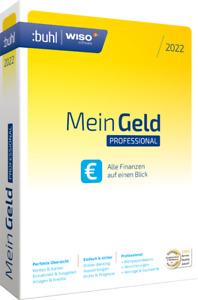 WISO Mein Geld 2022 Professional - unbeschränkt lauffähig - CD & Handbuch