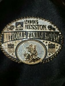 National Finals Rodeo 2005 Hesston Gold & Silver Two-Toned Belt Buckle/Montana s