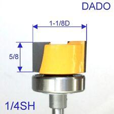 """1 pc 1/4"""" Shank 1-1/8"""" Dia. with Top Bearing Dado & Planer Pattern Bit S"""