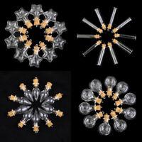 10x Refill Mini Glass Bottle Potion Cork Vial Wish DIY Pendant Craft Jewelry