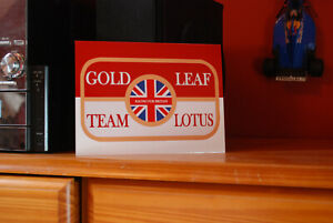 Lotus Gold Leaf F1 Metal Sign Wall Art - Scuderia GP
