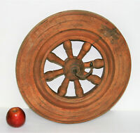 """Antique Victorian Wooden Spoked Wheel Part of Witches Spinning Wheel 15"""" in Ø"""