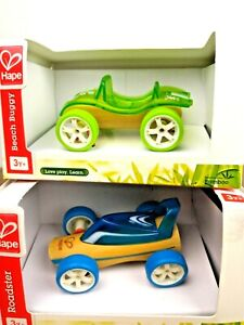 Hape Mini Roadster & Beach Buggy Bamboo Toy Car Imaginative Play Sustainable 3+