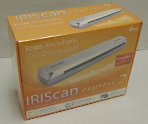 New IRIScan Express 2 Sheetfed Scanner USB Portable Documents Business Cards