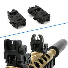 Flip up Front Rear Iron Sight Set Rapid Transition  Set A2 Mil Spec Low Profiles