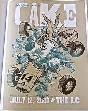 Cake Poster Reprint for Band Concert in Columbus Ohio LIVE PERFORMANCE 14x10