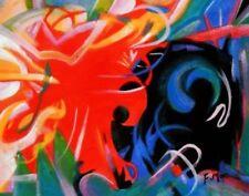 Abstrakte künstlerische Malerei im Expressionismus-Stil